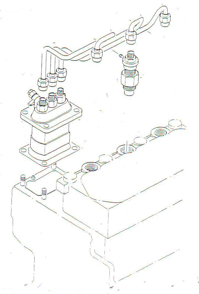 mitsubishi diesel tractor engine diagram